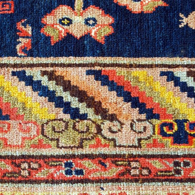 Turkestan 19th Century Central Asian Samarghand Carpet For Sale