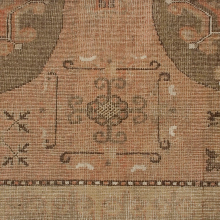 Vegetable Dyed 19th Century Central Asian Samarghand Carpet For Sale