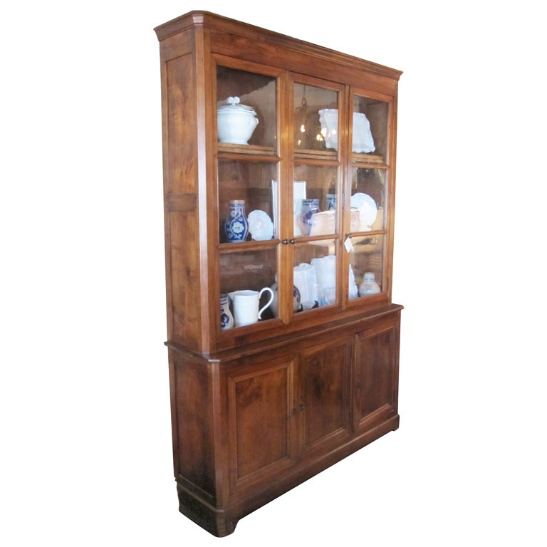 Walnut bibliotheque at 1stdibs - Bibliotheque 16 cases ...