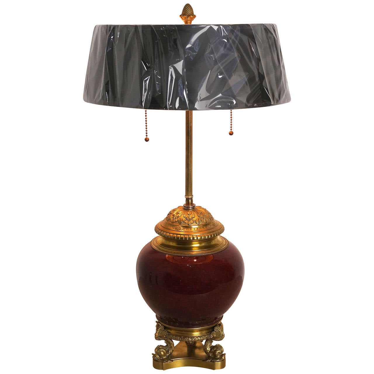 Louis Xvi Style Bronze Bouillotte Lamp With A Sang De