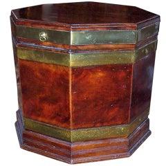 Georgian  mahogany octagonal cellarette or side table