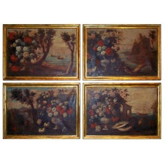 A Set Of 4 Italian / French Seascapes