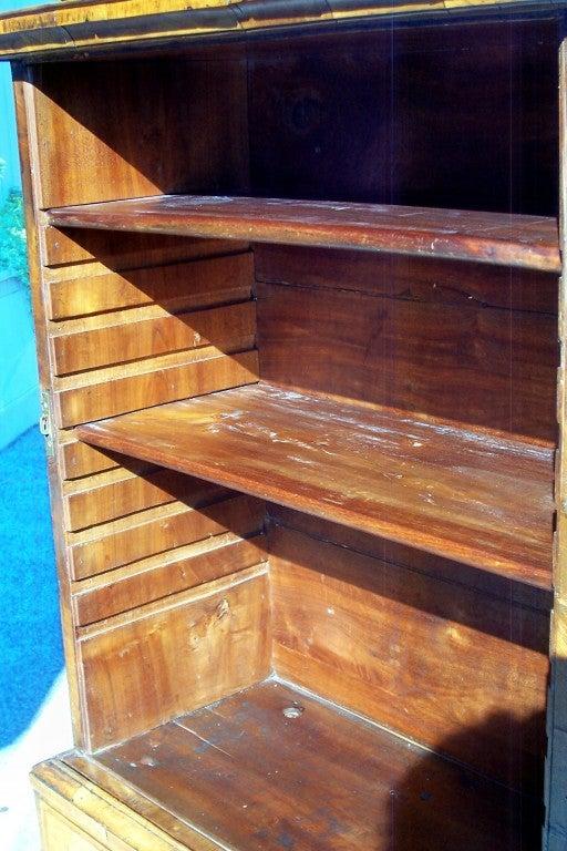 George I Burr Walnut and Walnut Bureau Bookcase For Sale 1
