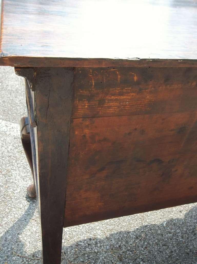 Welsh or English Inlaid Oak Dresser Base Sideboard With Mahogany Banding  1