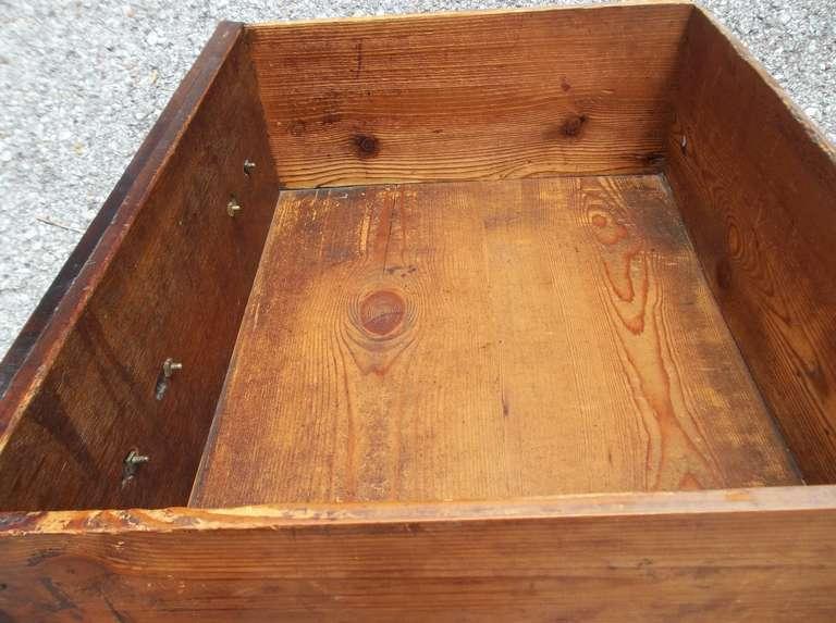 Welsh or English Inlaid Oak Dresser Base Sideboard With Mahogany Banding  3