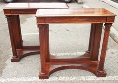 Pair Of Edwardian Rosewood Pier Tables