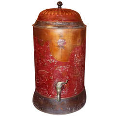 Painted Tole Water Dispenser or Canister