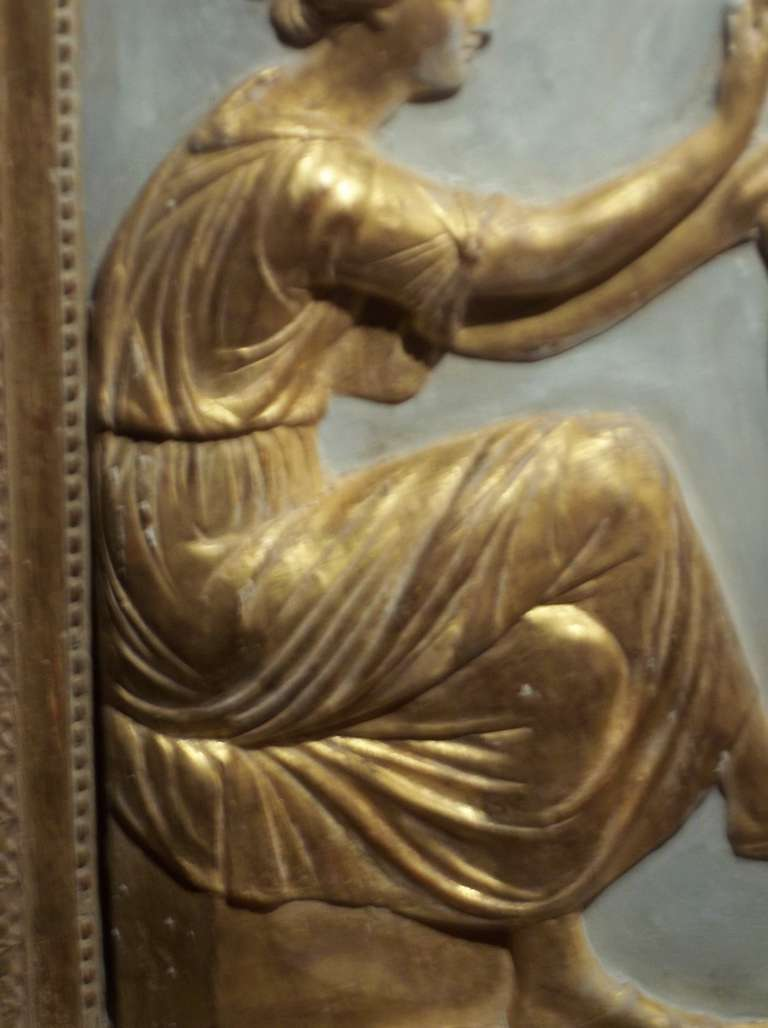 Neoclassical Styled Gilded Plaster Relief For Sale At 1stdibs