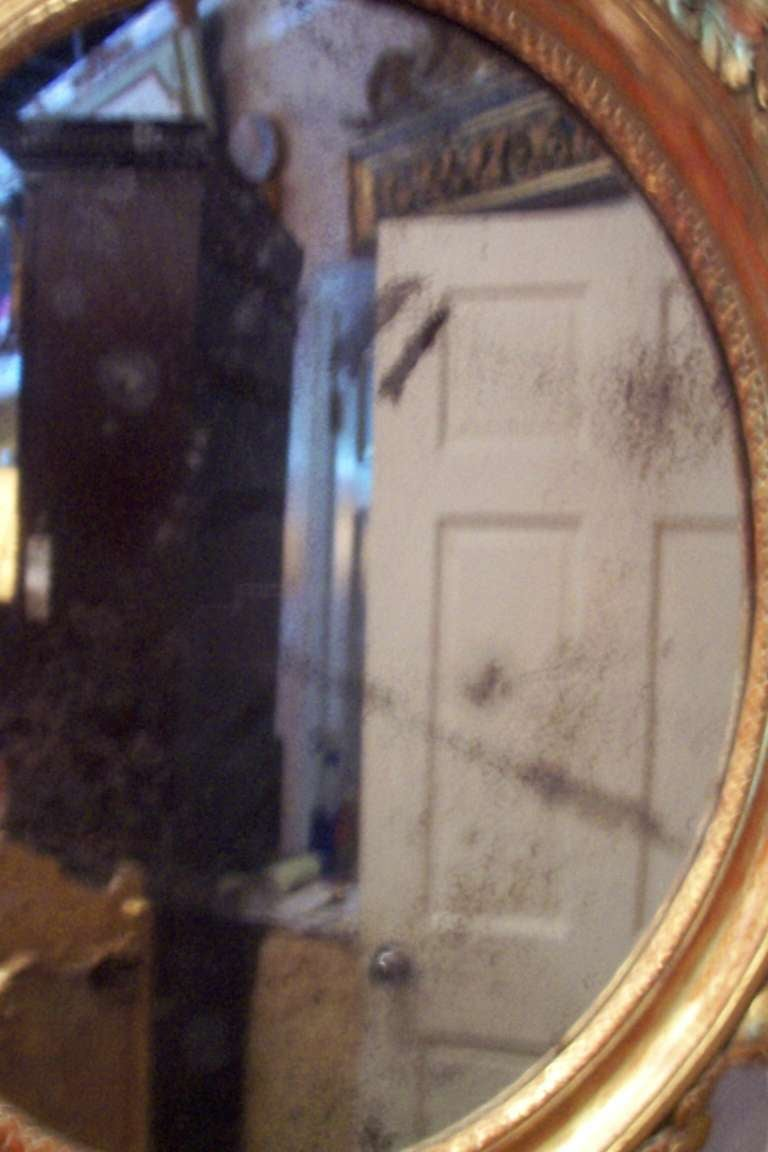 Italian or French Giltwood Mirror with Putti or Cherubs in Lemon Gilt For Sale 2