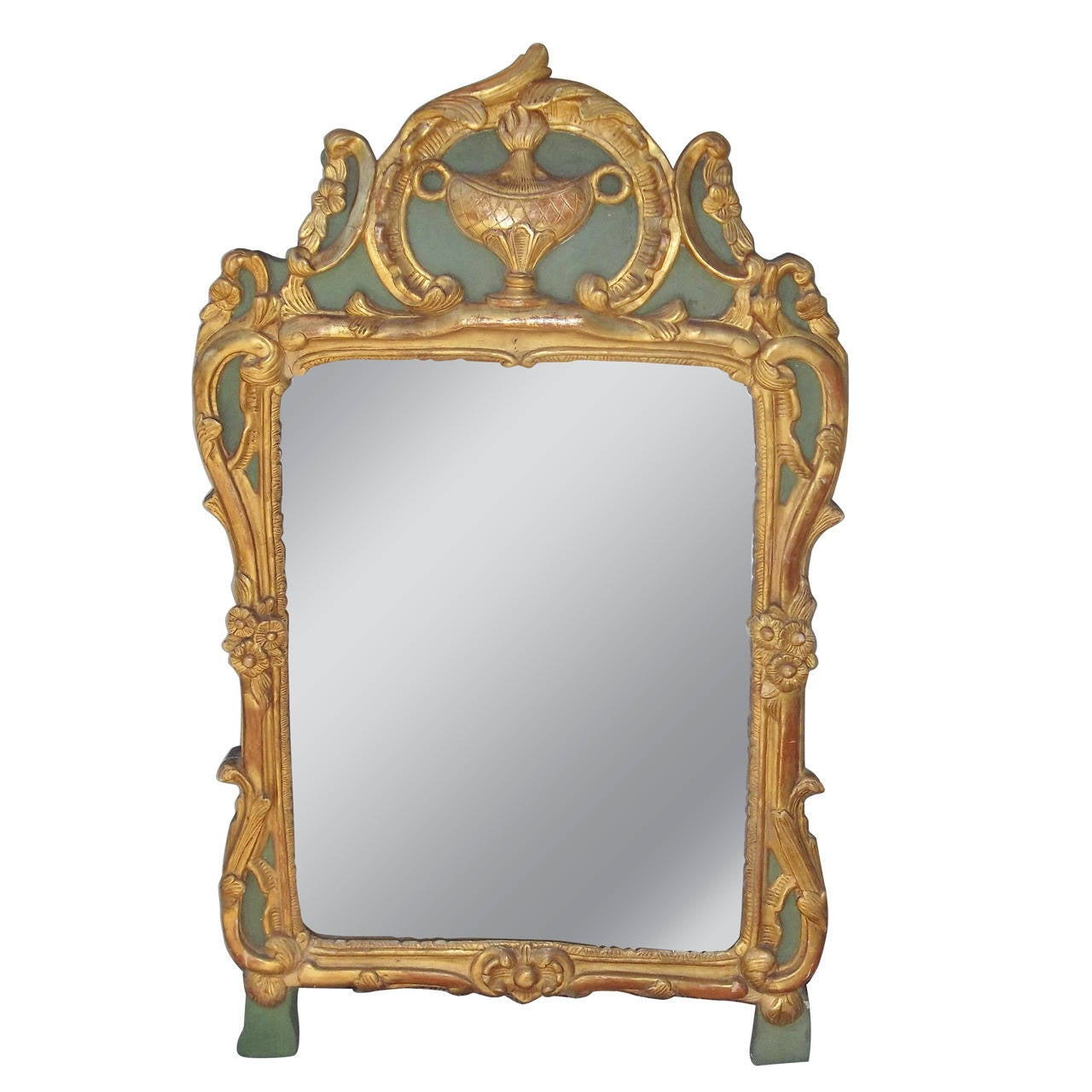 Louis XV Giltwood Mirror Re-decorated Or Refreshed