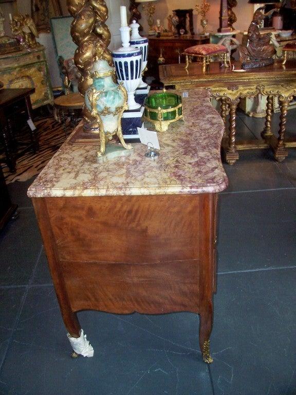 Italian Walnut Rococo Period Commode For Sale 3