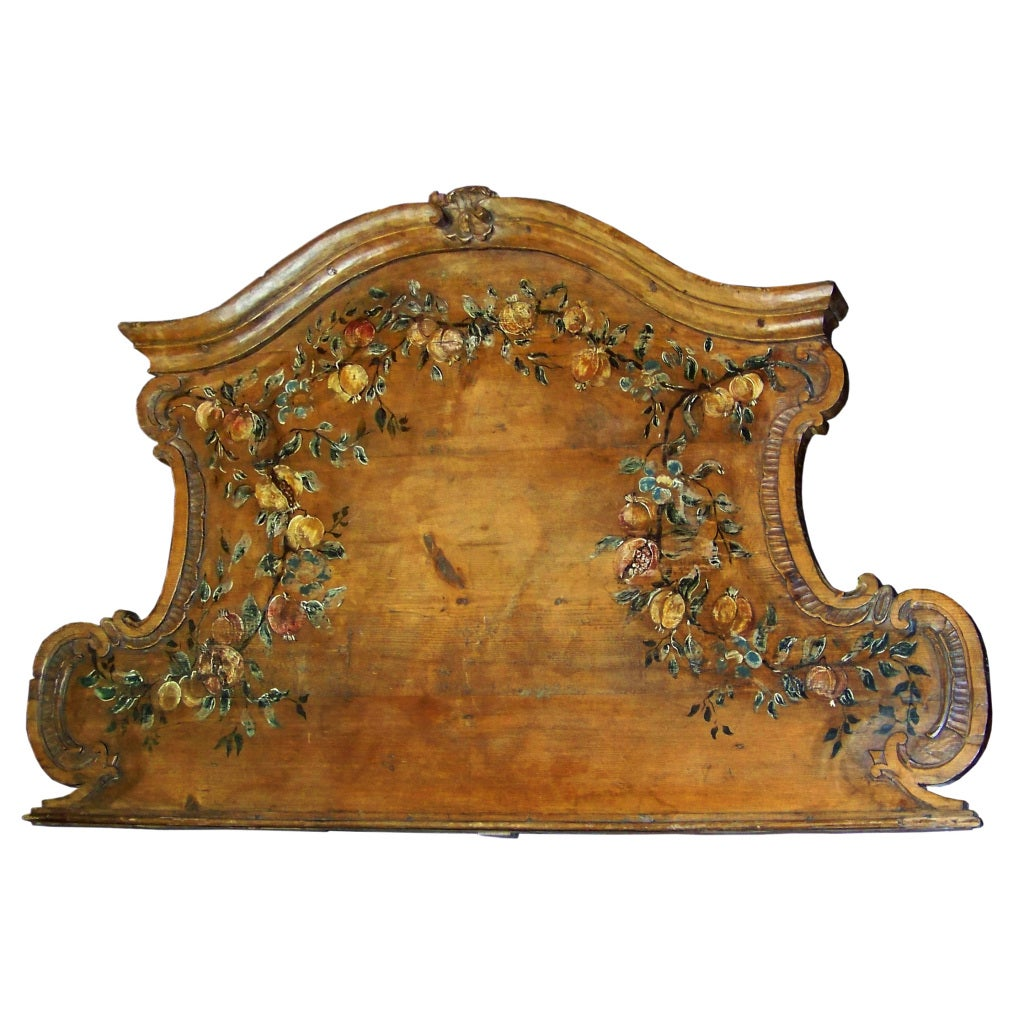 Italian tuscan floral painted panel overdoor at 1stdibs for Italian painted furniture