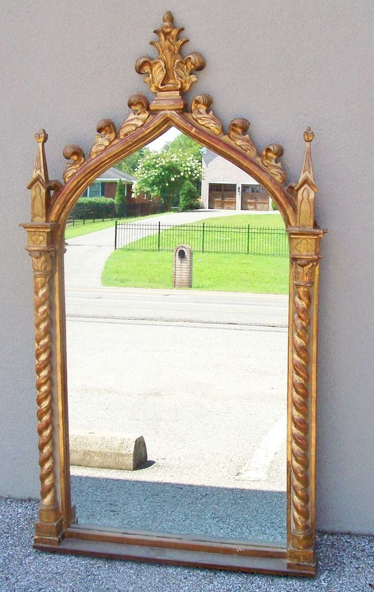 Italian giltwood mirror w solomonic columns style of for Church style mirrors
