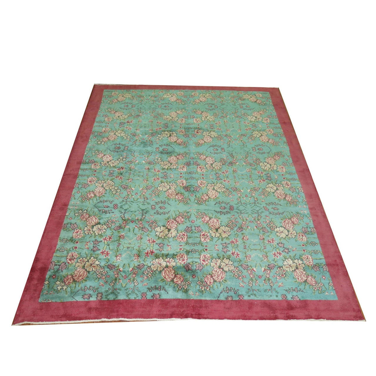 Colorful turkish deco rug for sale at 1stdibs for Colorful rugs for sale