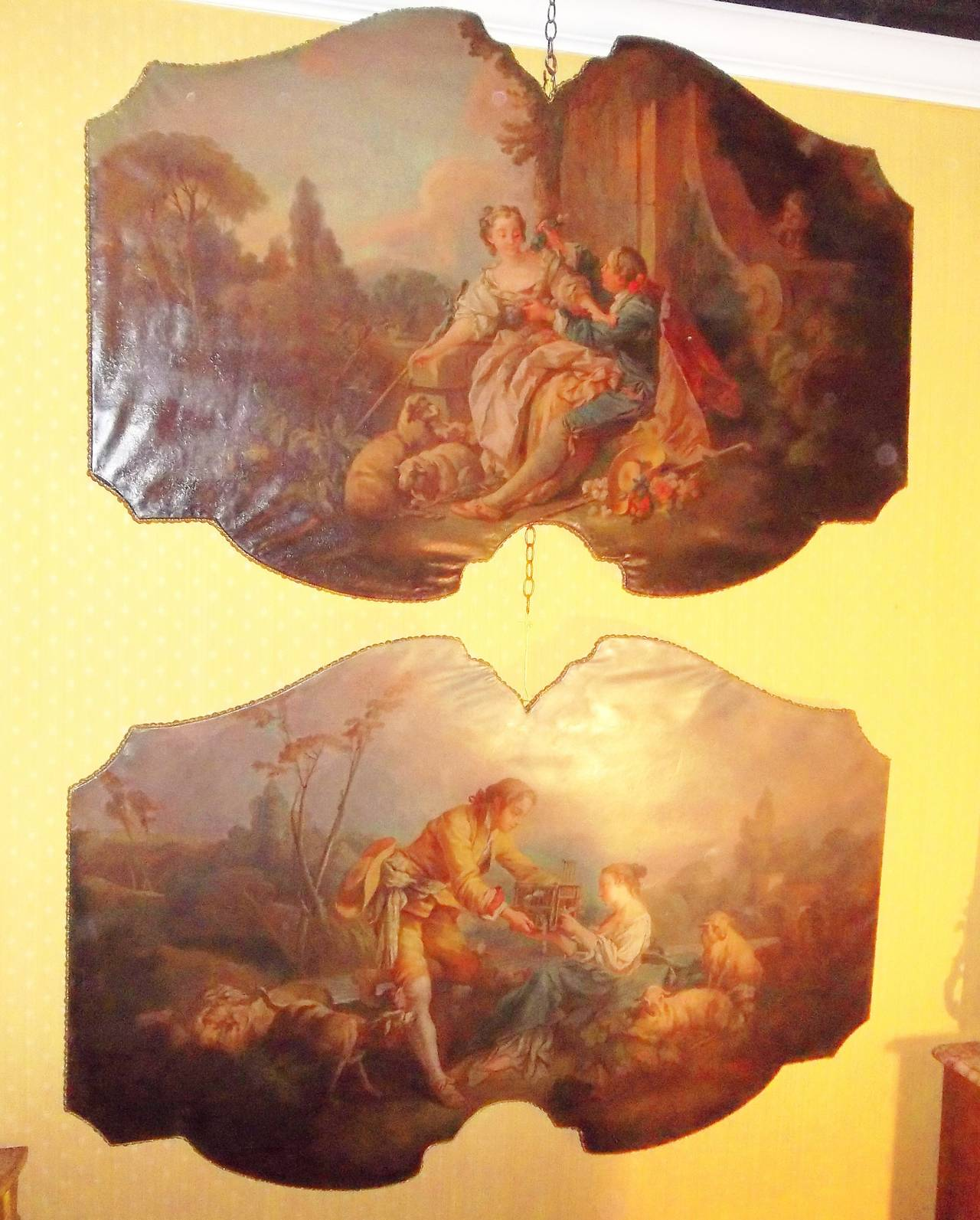 In Manner of Boucher , The Four Seasons as Large Overdoor Panel at ...