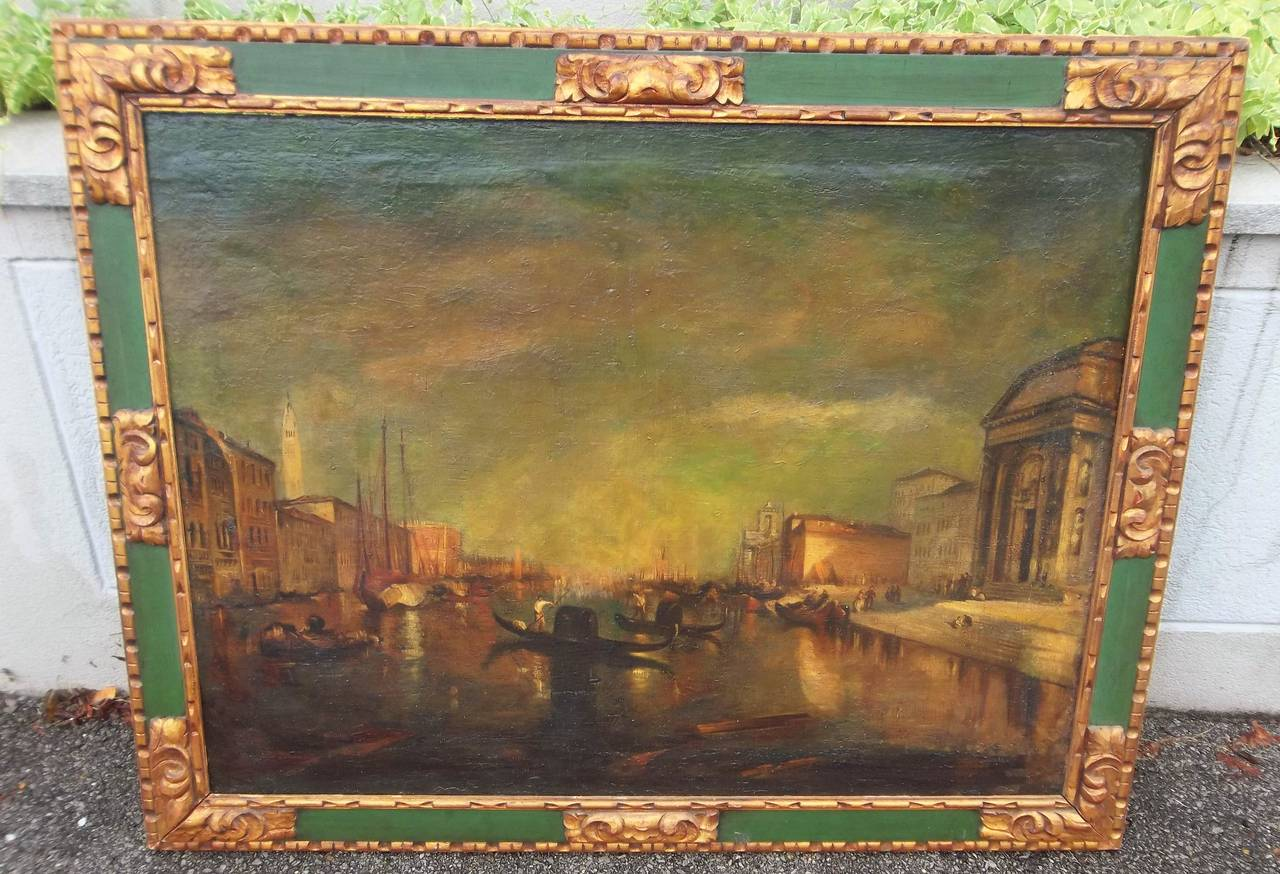Italian Manner of J.M.W Turner, Venice Scene of the Grand Canal Painting For Sale