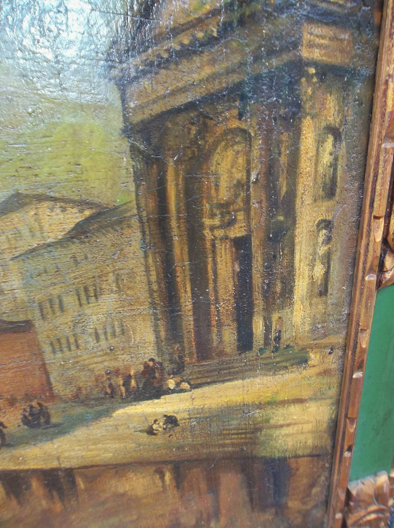 Manner of J.M.W Turner, Venice Scene of the Grand Canal Painting In Fair Condition For Sale In Nashville, TN