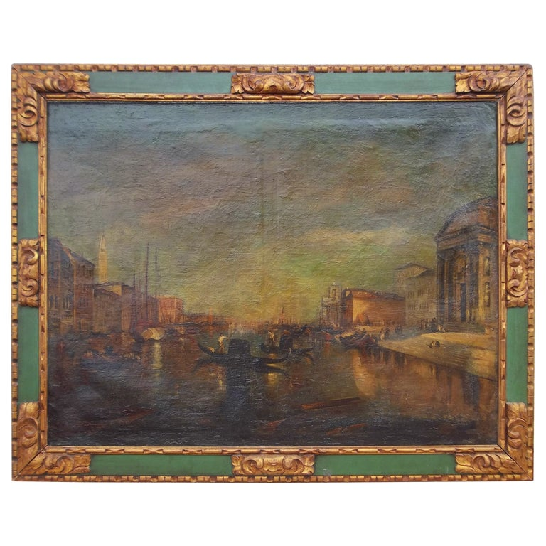 Manner of J.M.W Turner, Venice Scene of the Grand Canal Painting For Sale