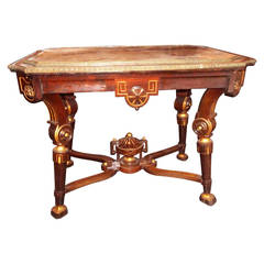 Egyptian Revival Rosewood Center or Library table