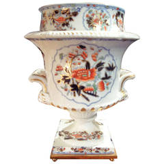 Crown Derby Imari Ice Cream Cooler Mounted as Lamp