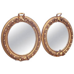 Pair Of American Giltwood And Plaster Mirrors In Louis XVI Style