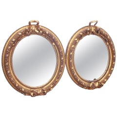 Pair Of Giltwood And Plaster Mirrors In Louis XVI Style