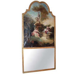 """ The Progress of Love "" Manner of Fragonard Set in a Trumeau"