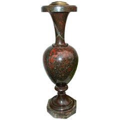 A Jasper Ewer Shaped Lamp