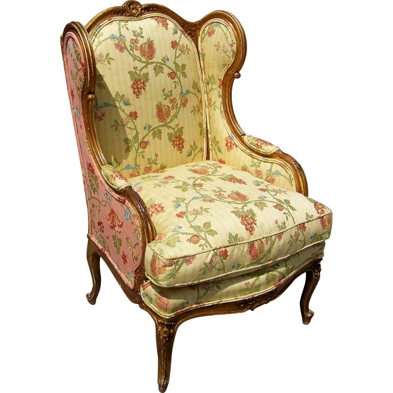 Louis XV Style Giltwood Bergere Or Armchair At 1stdibs