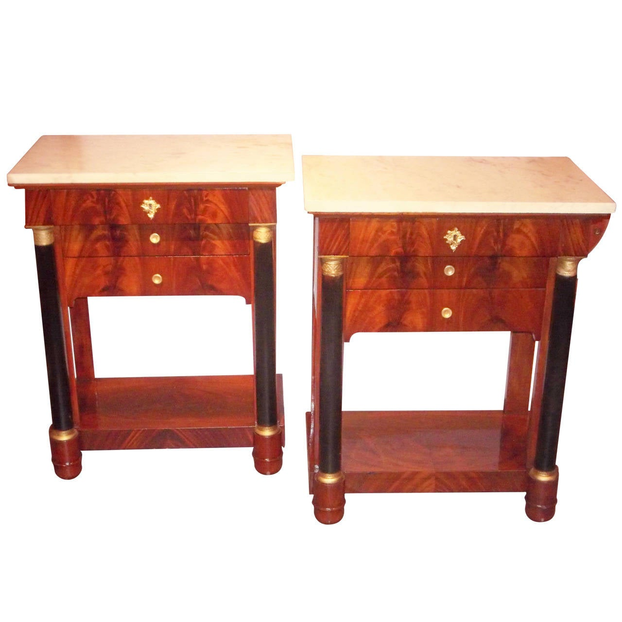 Pair of french or italian empire style commodes or - Console commode ...