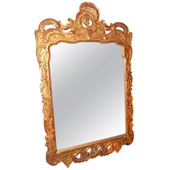 Rococo French Or Italian Looking Glass Mirror