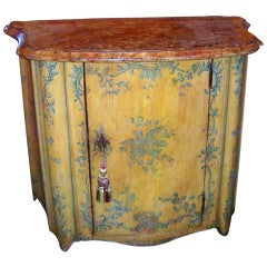 French or Italian Saffron Painted Cabinet or Cupboard