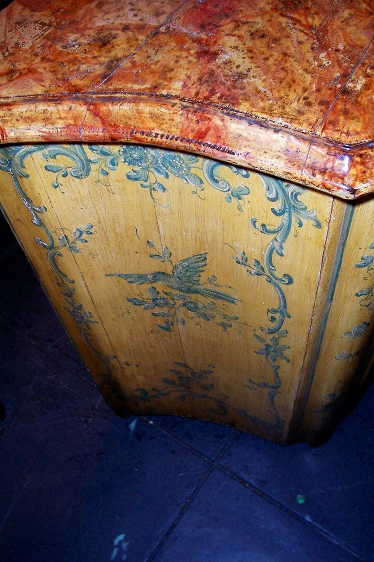 French or Italian Saffron Painted Cabinet or Cupboard In Good Condition For Sale In Nashville, TN