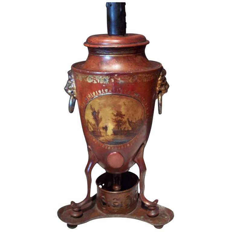 What S Hot On Pinterest Mid Century Table Lamps For Your Loft: Italian Tole Hot Water Urn Or Heater Now Mounted As Lamp