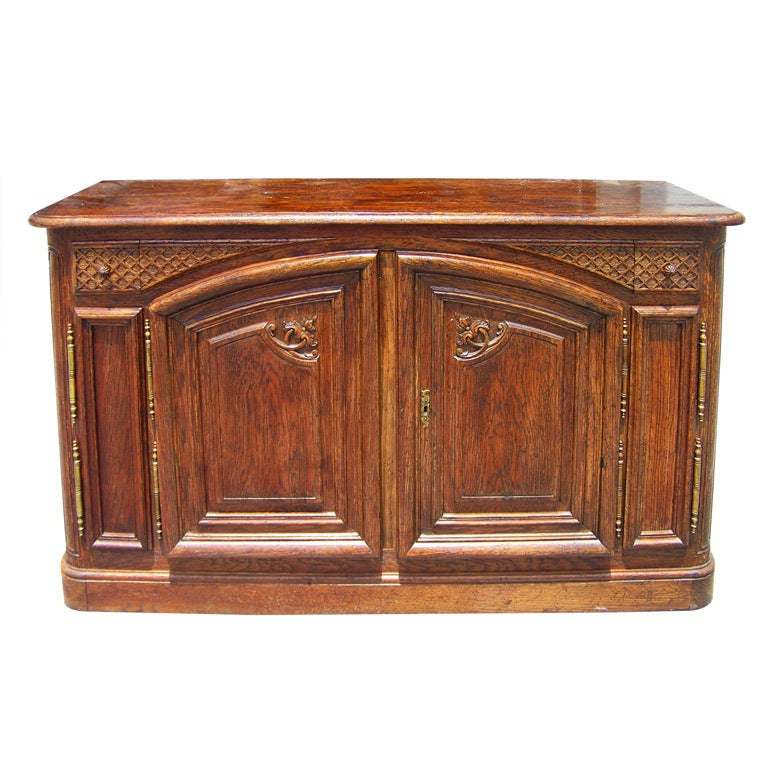 French oak provincial style cabinet / credenza
