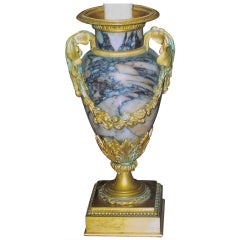 Neoclassical Gilt Bronze Mounted Marble Urn, Mounted as Lamp