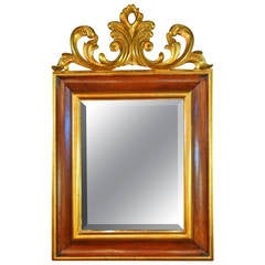 Large Carved and Gilt Mahogany Mirror by Harrison & Gil (later Christopher Guy)