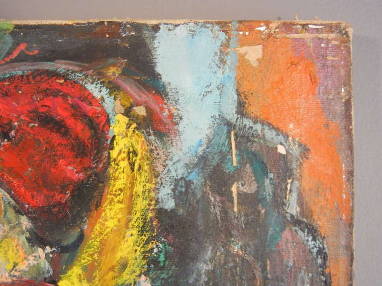 American Expressionist Still Life, Oil on Canvas, California, 1940s For Sale