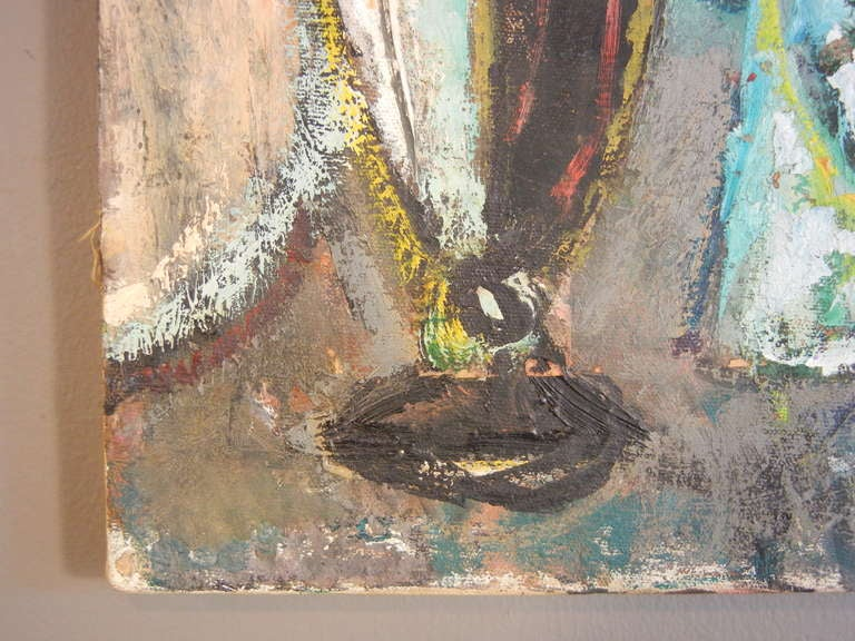 20th Century Expressionist Still Life, Oil on Canvas, California, 1940s For Sale