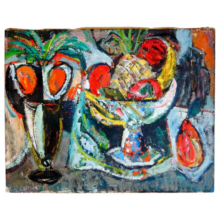 Expressionist Still Life, Oil on Canvas, California, 1940s