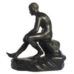 """Grand Tour Souvenir Table-Top Bronze """"Mercury"""" after the Antique"""