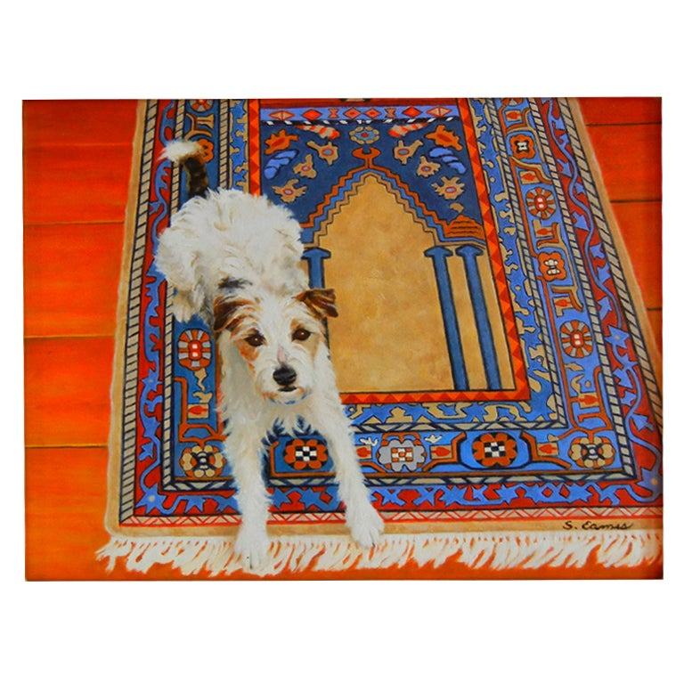 "Sandra Eames, ""On the Prayer Rug,"" Oil on Canvas, Vermont, 2008 For Sale"