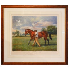 """Ribot"" Unbeaten Thoroughbred, Limited Edition Print, Richard Stone Reeves, 1968"