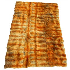 Luxurious Vintage Western Red Fox Oversized Throw