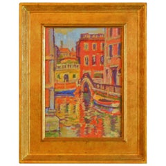 """Venice II"" by American Impressionist Lief Nilsson, Oil on Panel, 1995"