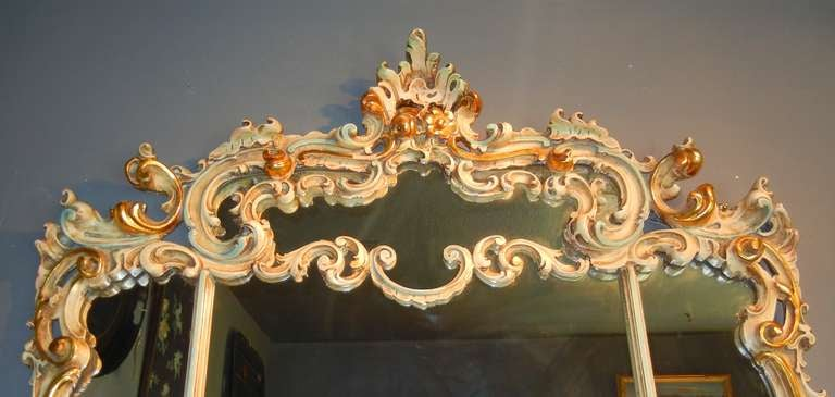 Art Deco Period Baroque Style Large Mantel Mirror In