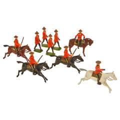 Royal Canadian Mounted Police, Vintage Toy Soldiers by Britains Ltd.