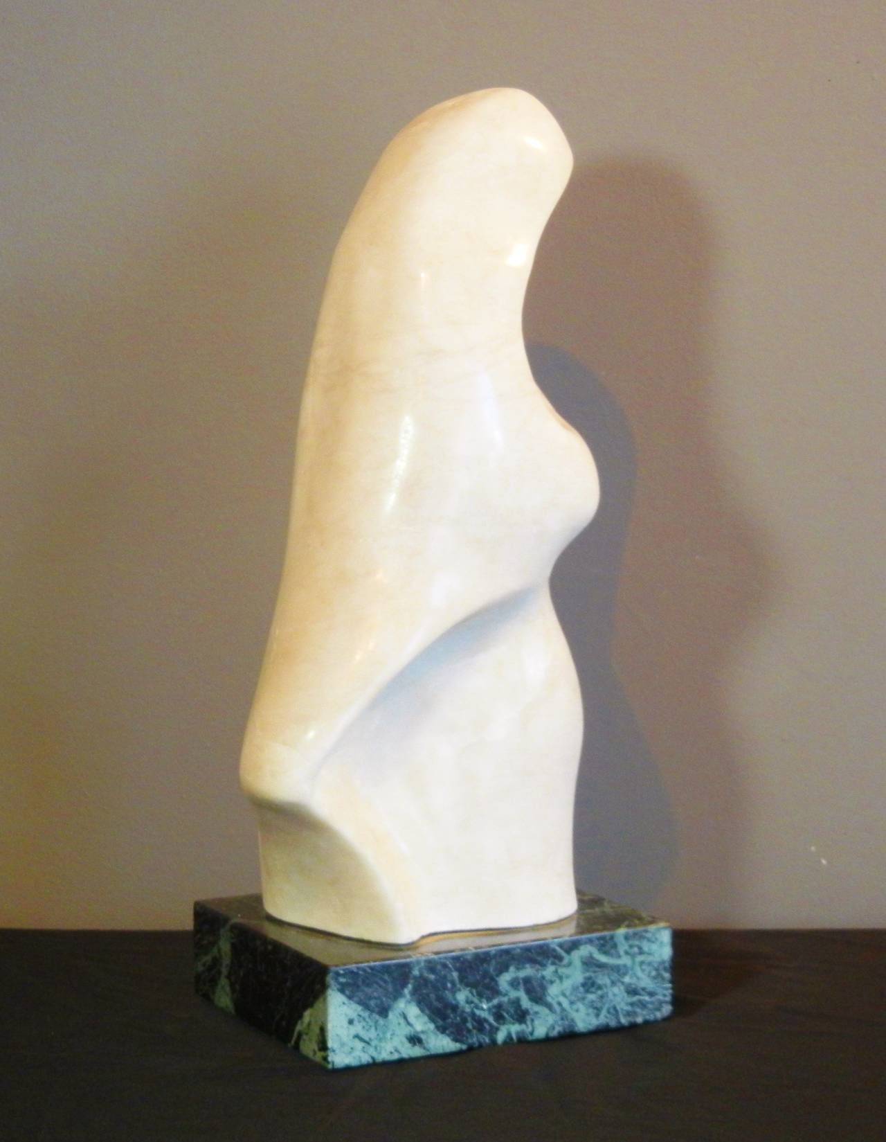 Hand-Carved White Marble Abstract 18