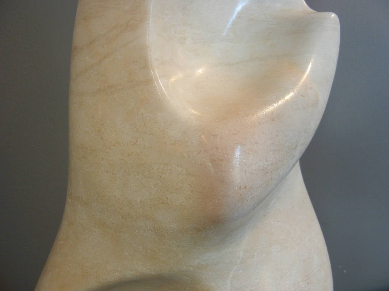 Late 20th Century White Marble Abstract 18