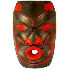Northwest Coast Mask of Tsonokwa by Andrew Coon, Kwagu'l Tribe, BC
